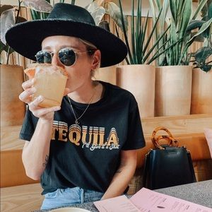 White Crow brand tequila tee
